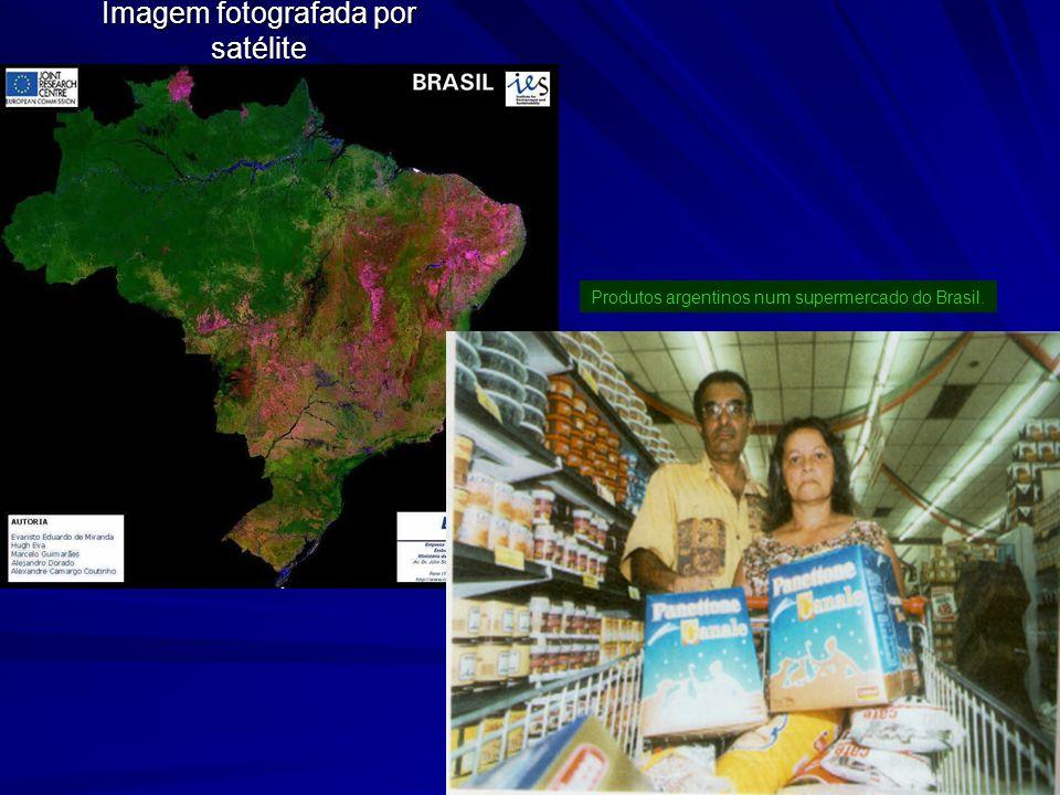 Imagem fotografada por satélite