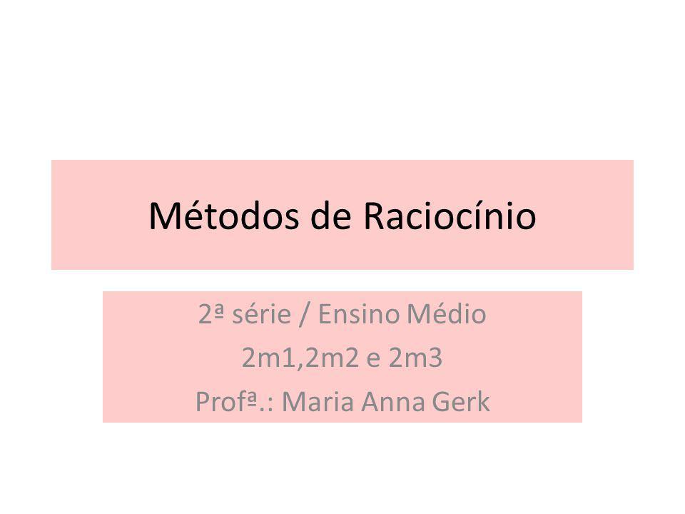 2ª série / Ensino Médio 2m1,2m2 e 2m3 Profª.: Maria Anna Gerk