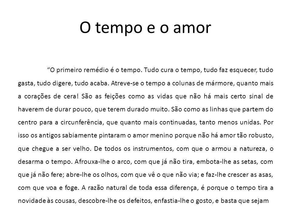 O tempo e o amor