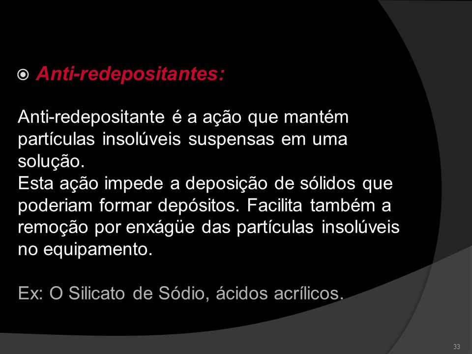 Anti-redepositantes: