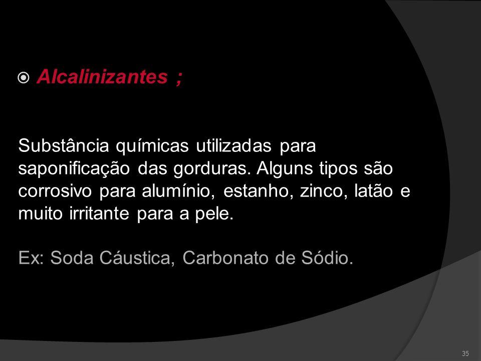 Alcalinizantes ;