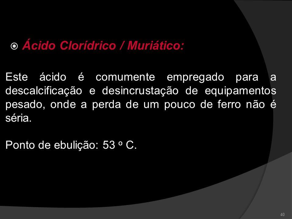 Ácido Clorídrico / Muriático: