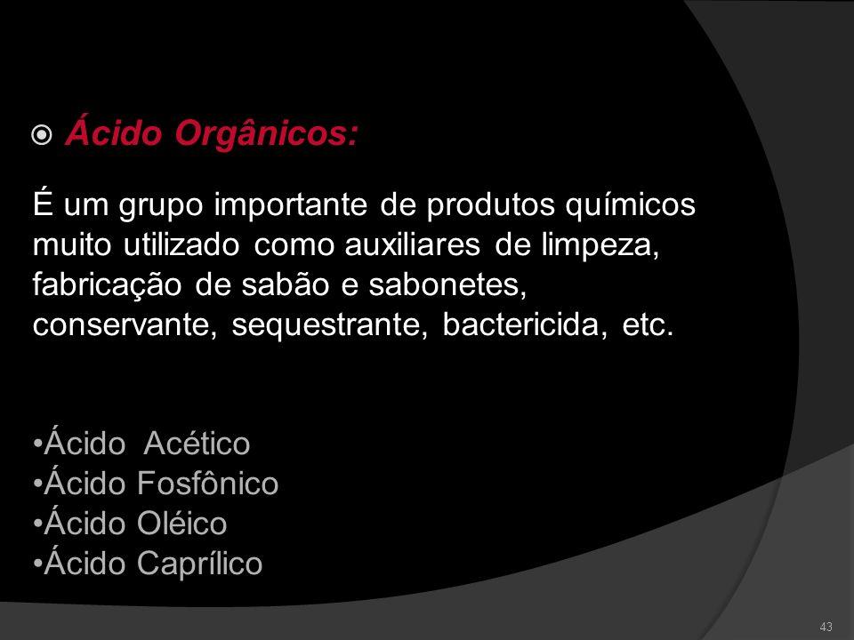 Ácido Orgânicos: