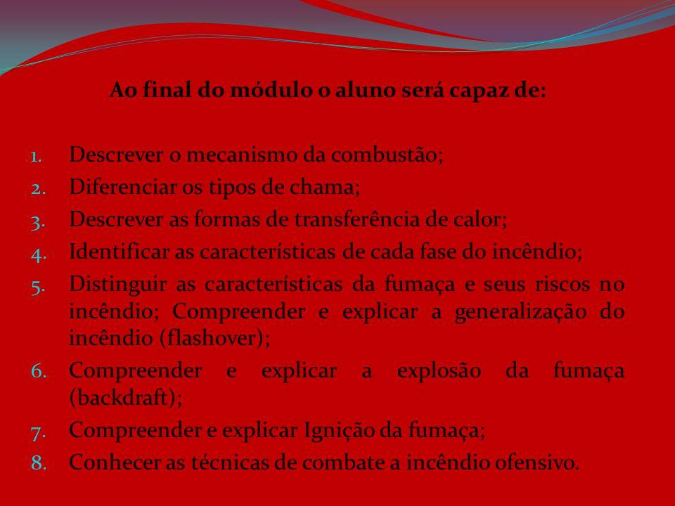 Ao final do módulo o aluno será capaz de: