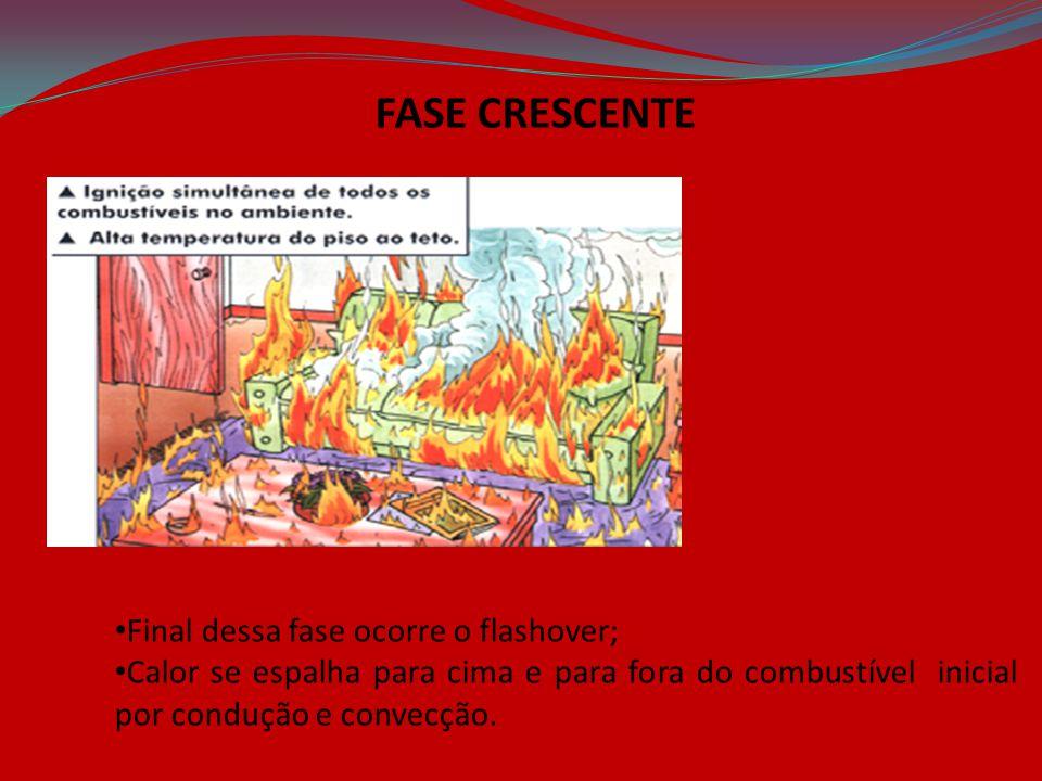 FASE CRESCENTE Final dessa fase ocorre o flashover;