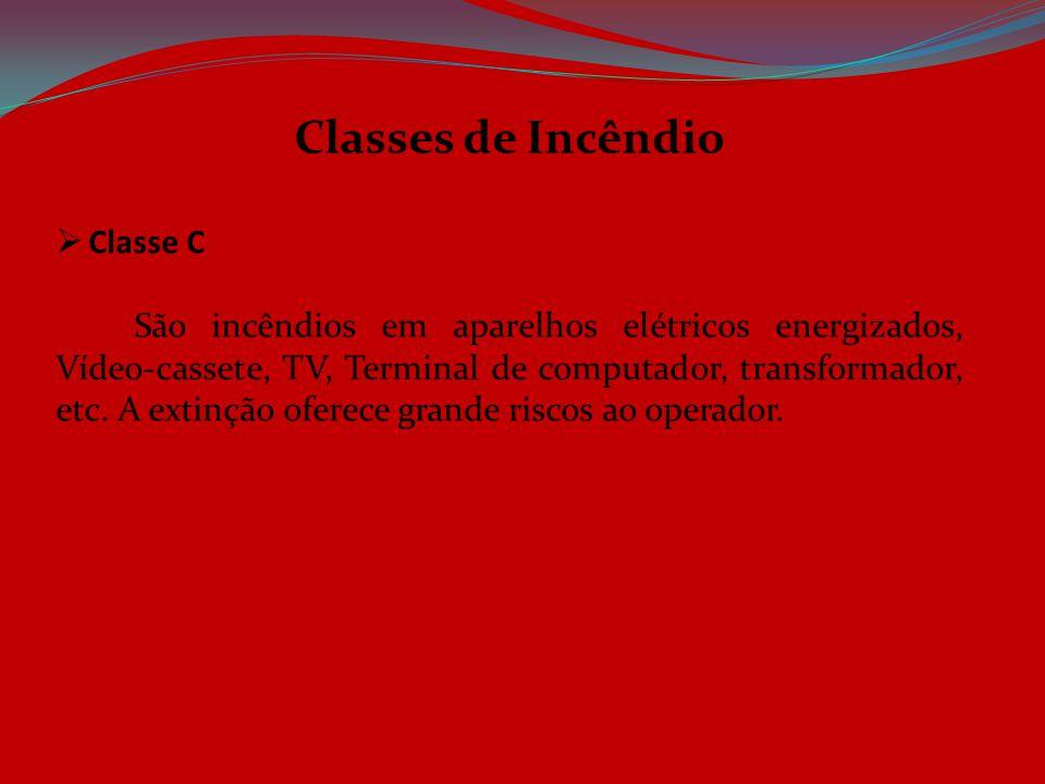 Classes de Incêndio Classe C