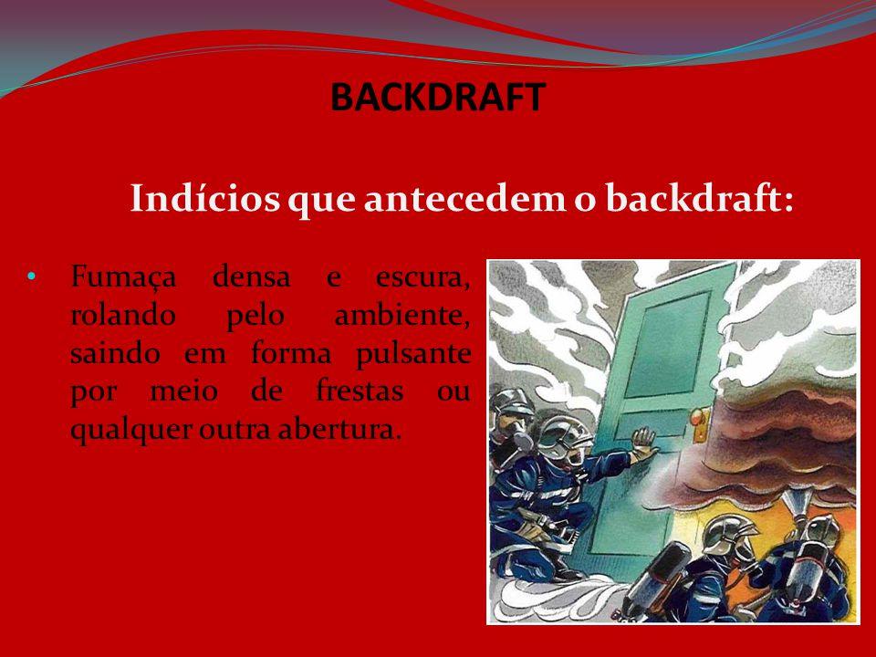 BACKDRAFT Indícios que antecedem o backdraft: