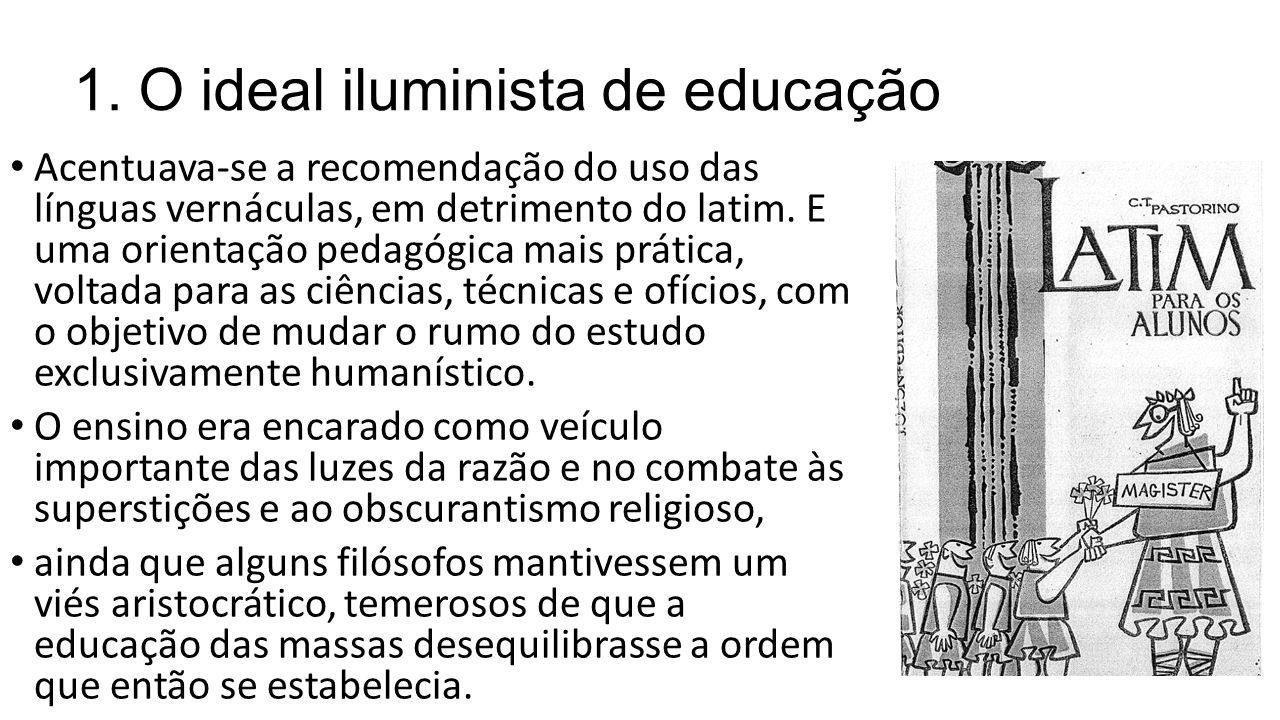 1. O ideal iluminista de educação