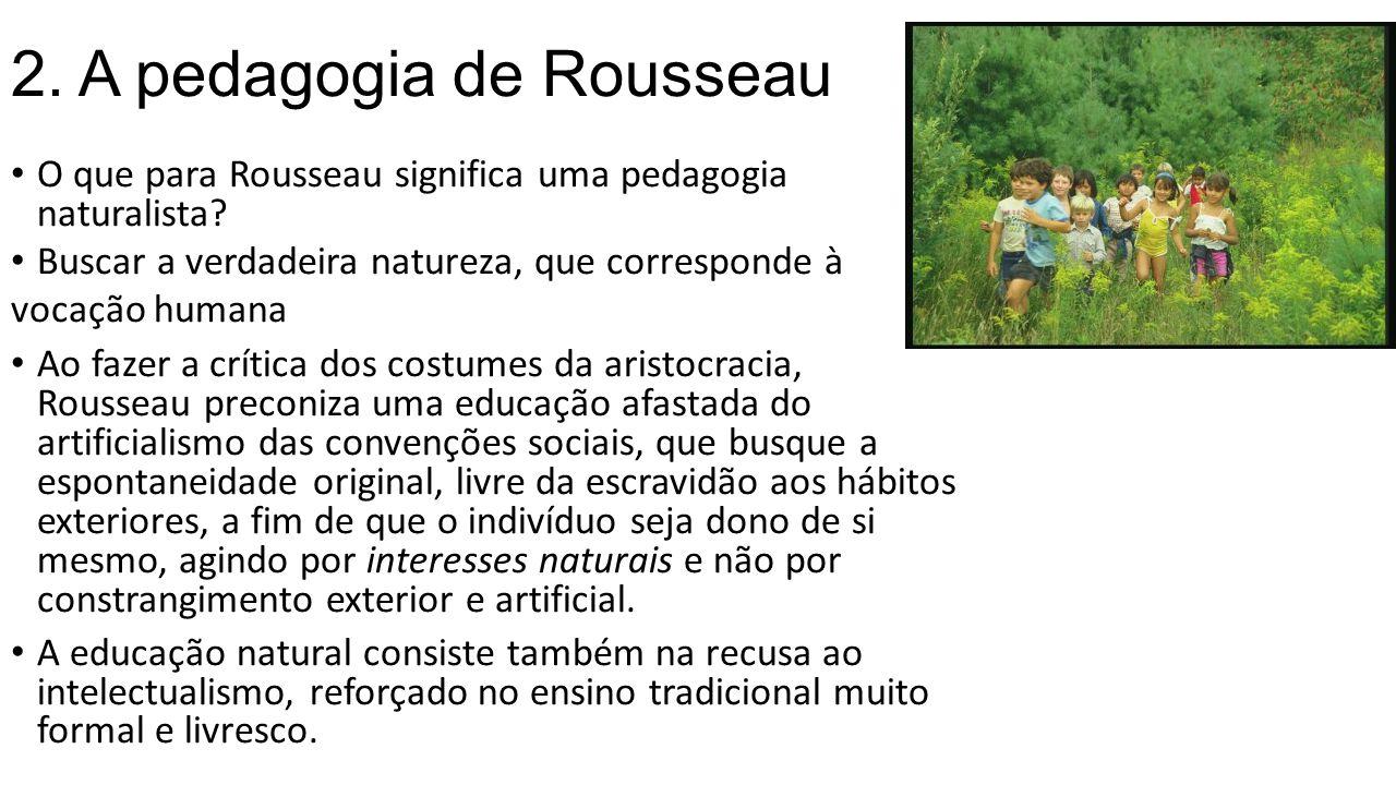 2. A pedagogia de Rousseau