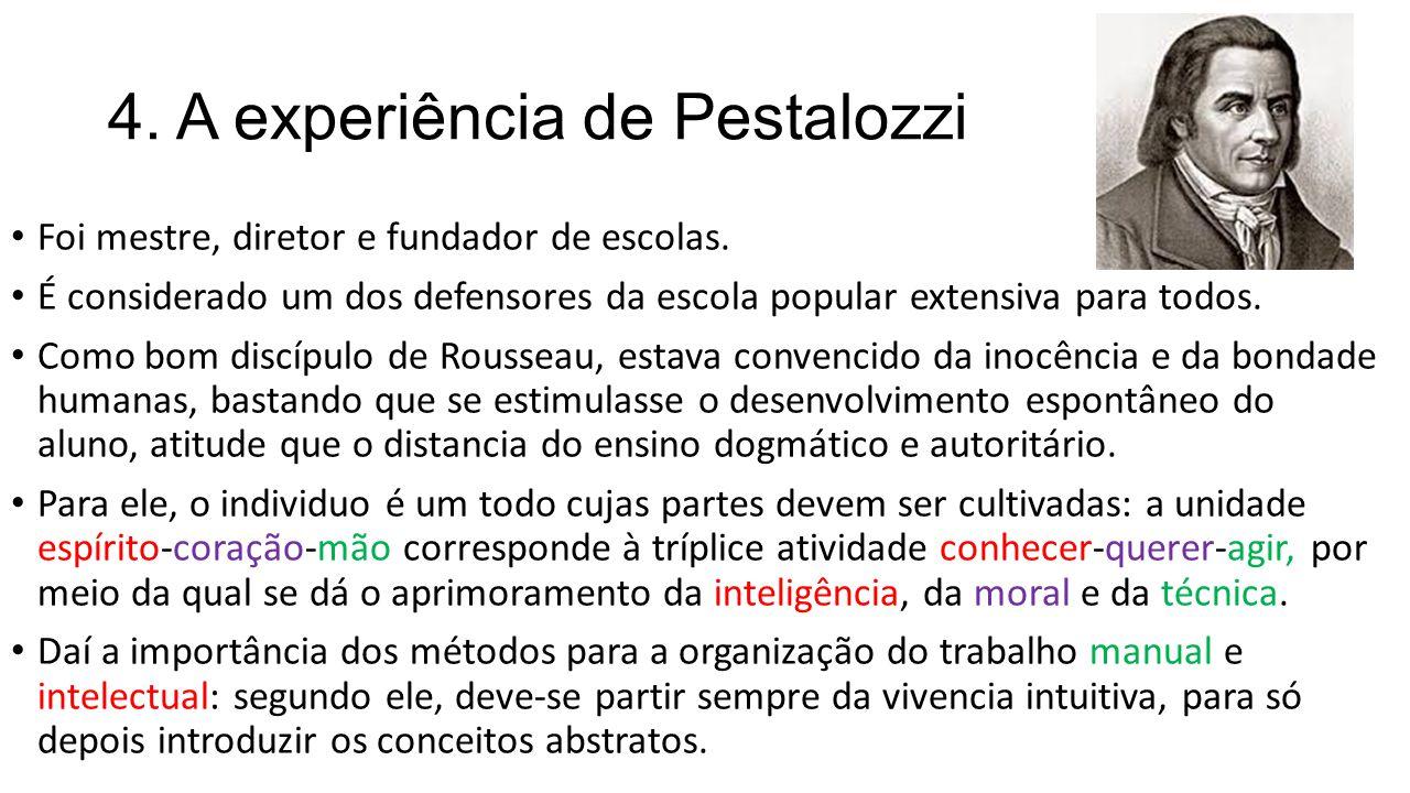 4. A experiência de Pestalozzi