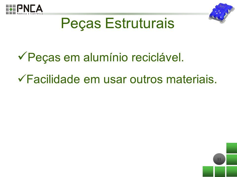 Peças Estruturais Peças em alumínio reciclável.