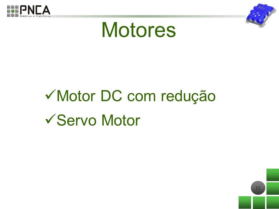 Motores Motor DC com redução Servo Motor