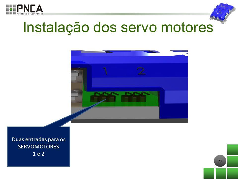 Instalação dos servo motores