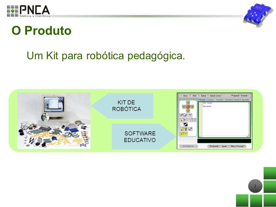O Produto Um Kit para robótica pedagógica. KIT DE ROBÓTICA SOFTWARE
