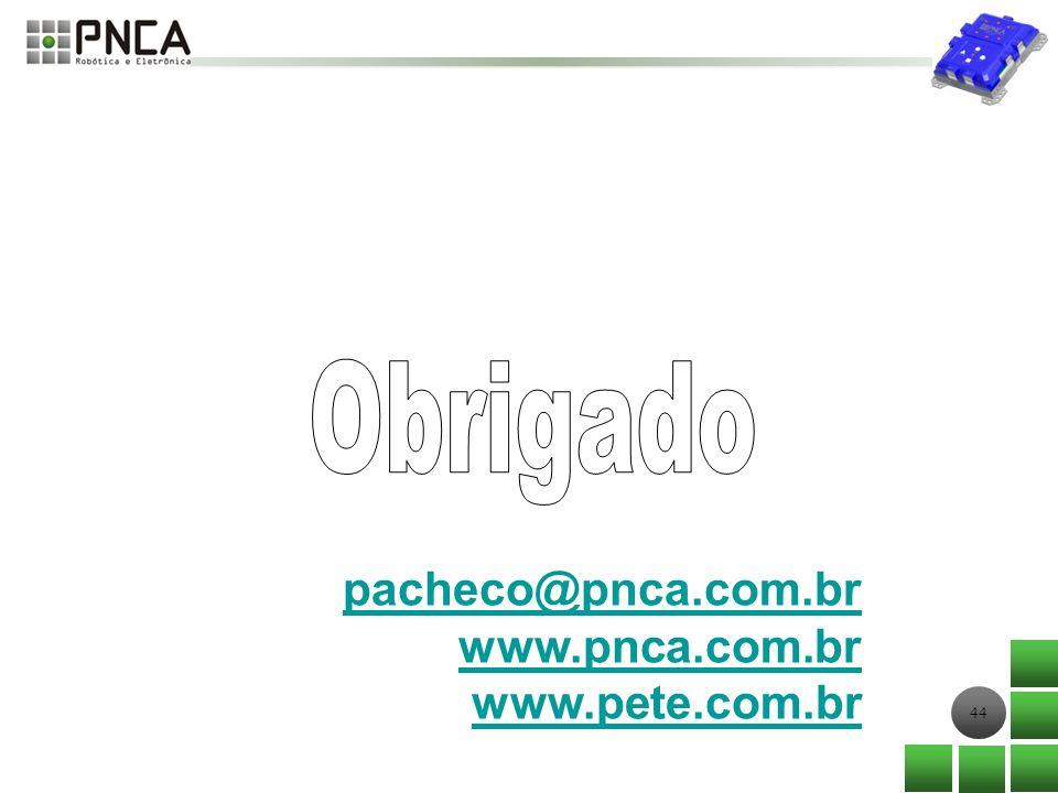 Obrigado pacheco@pnca.com.br www.pnca.com.br www.pete.com.br