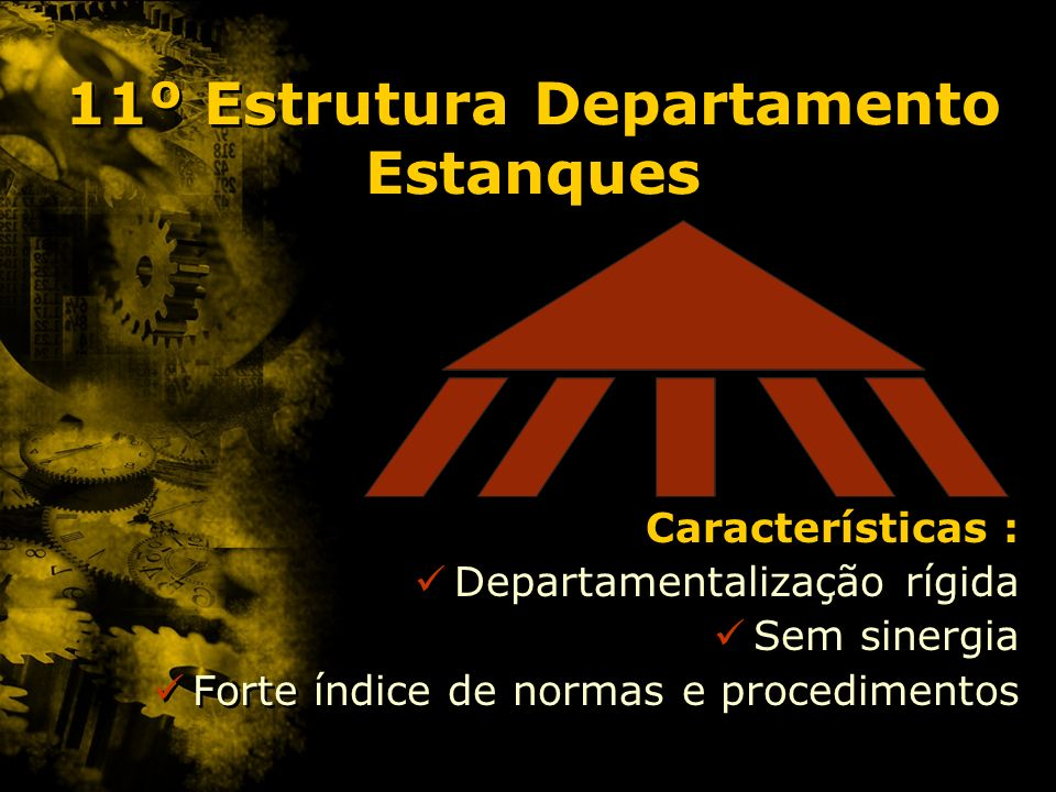11º Estrutura Departamento Estanques