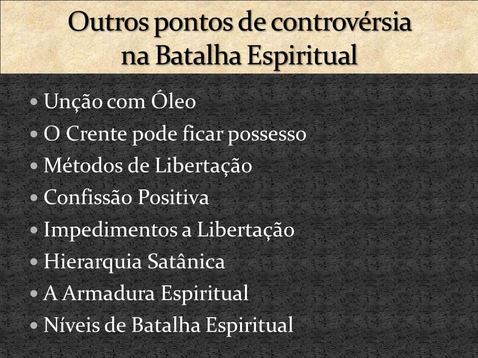 Outros pontos de controvérsia na Batalha Espiritual