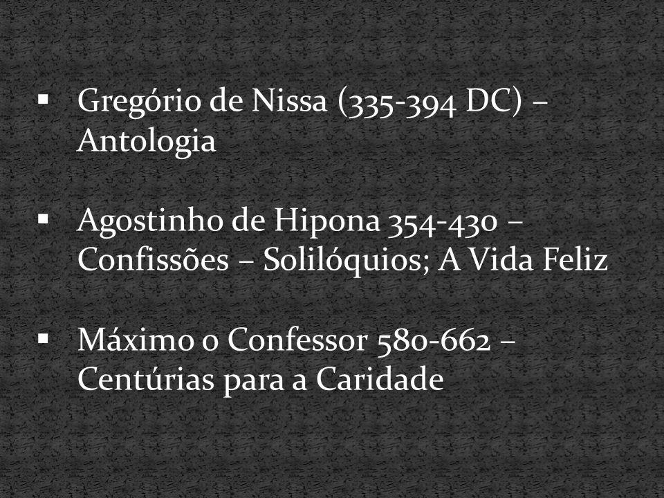 Gregório de Nissa (335-394 DC) – Antologia