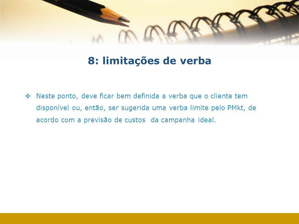 8: limitações de verba