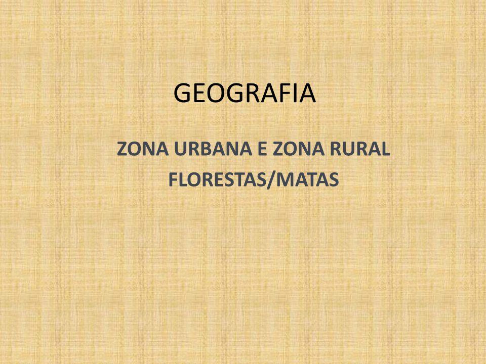 ZONA URBANA E ZONA RURAL FLORESTAS/MATAS