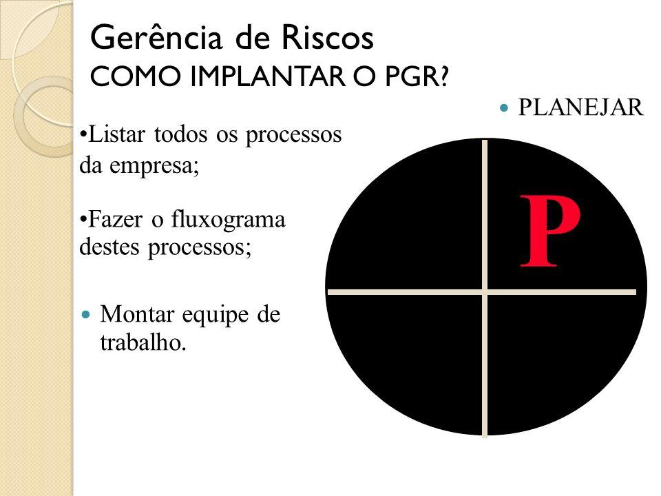 P Gerência de Riscos COMO IMPLANTAR O PGR PLANEJAR