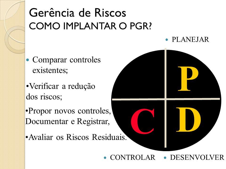 P D C Gerência de Riscos COMO IMPLANTAR O PGR