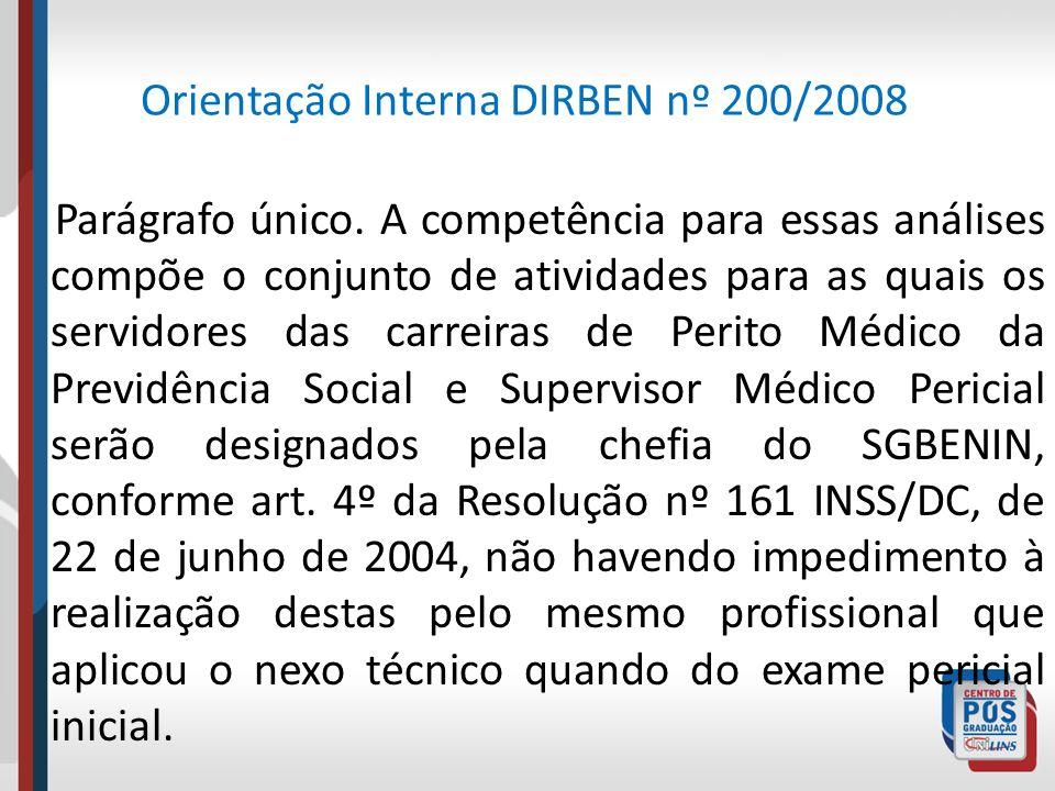 Orientação Interna DIRBEN nº 200/2008
