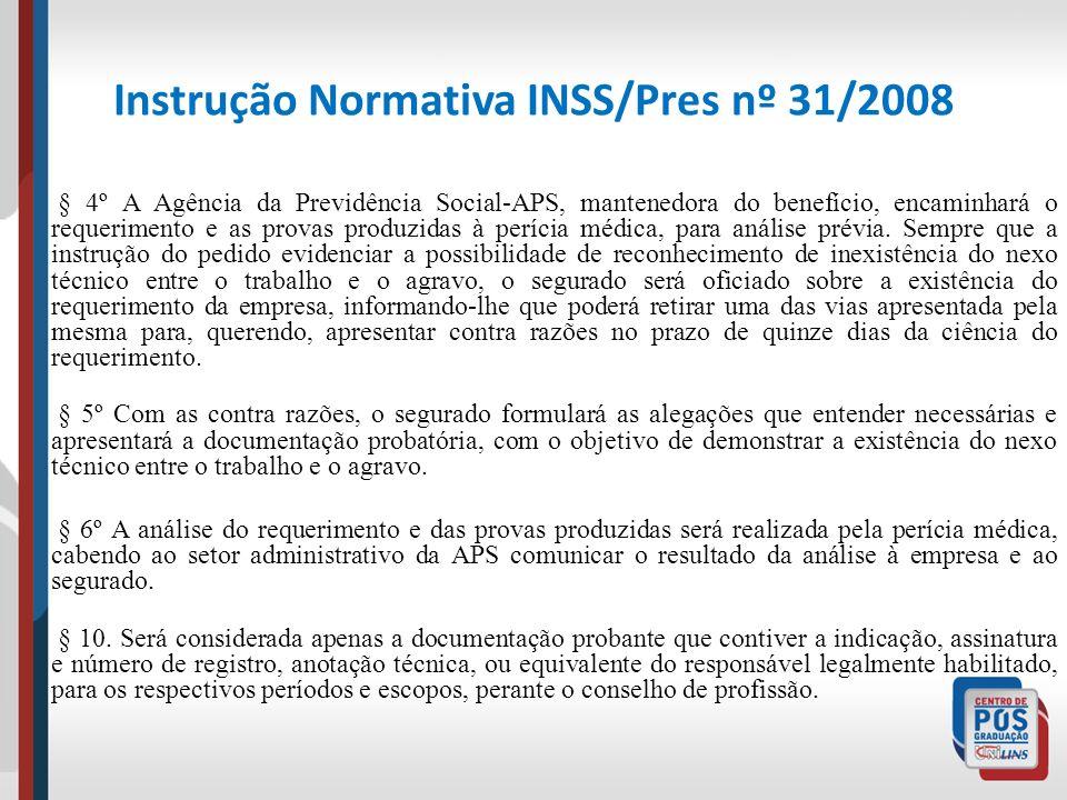 Instrução Normativa INSS/Pres nº 31/2008