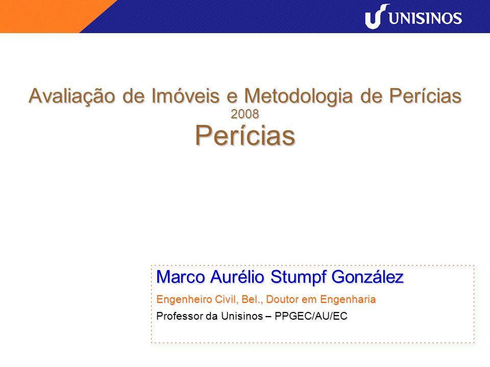 Avaliação de Imóveis e Metodologia de Perícias 2008 Perícias