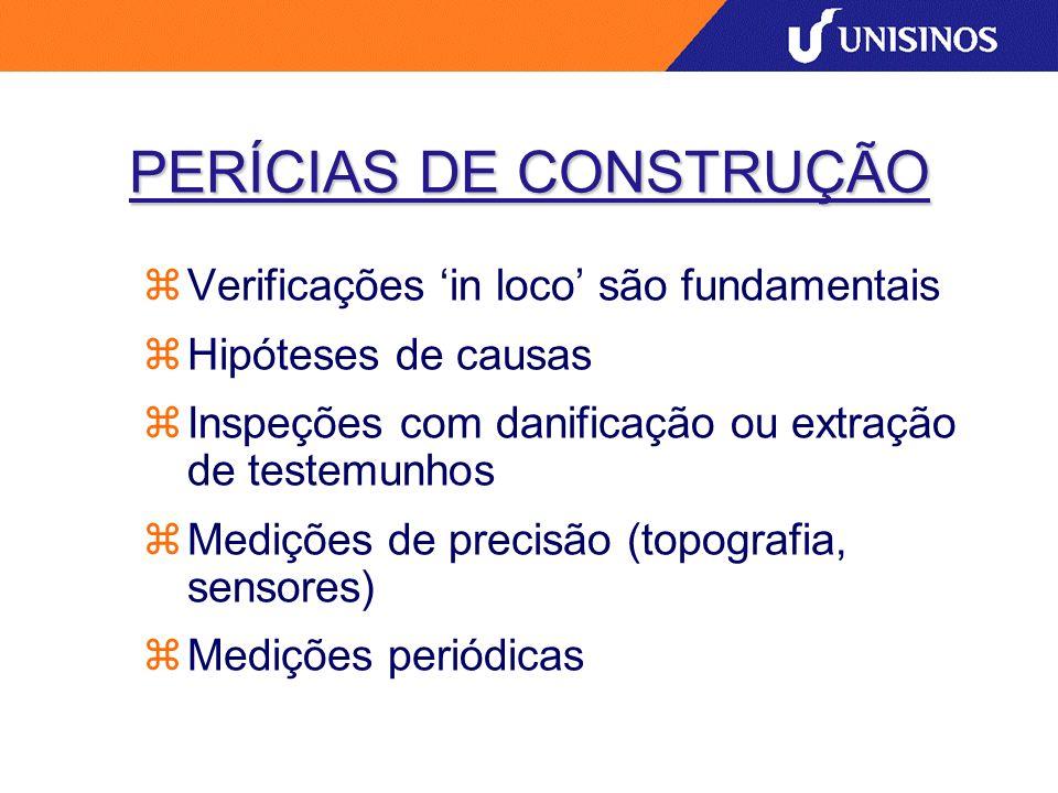 PERÍCIAS DE CONSTRUÇÃO