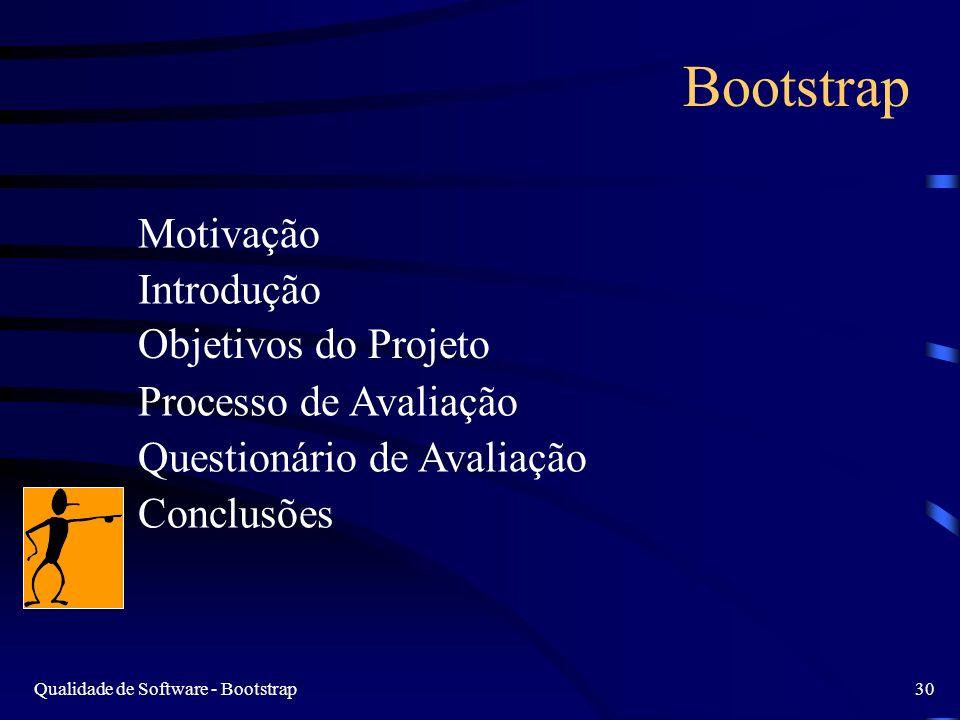 Bootstrap Motivação Introdução Objetivos do Projeto