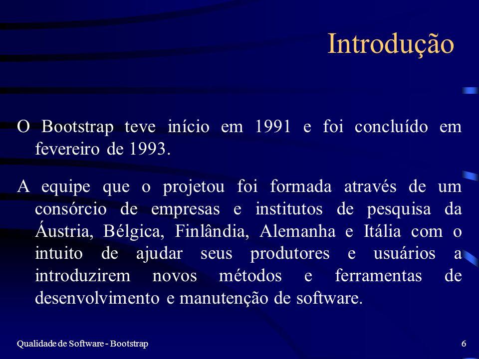 Introdução O Bootstrap teve início em 1991 e foi concluído em fevereiro de 1993.