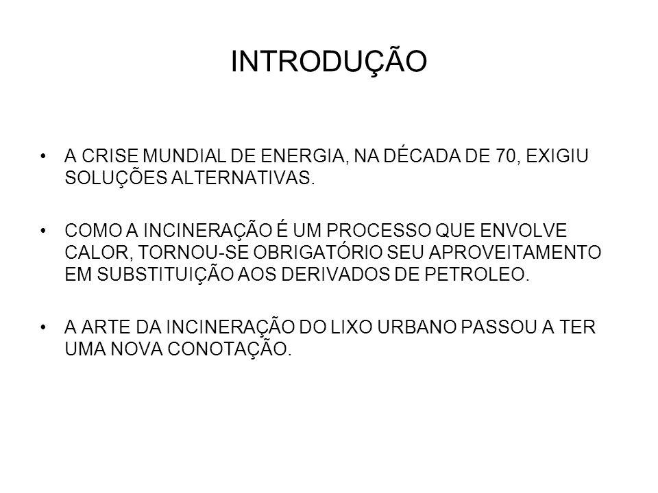 INTRODUÇÃO A CRISE MUNDIAL DE ENERGIA, NA DÉCADA DE 70, EXIGIU SOLUÇÕES ALTERNATIVAS.
