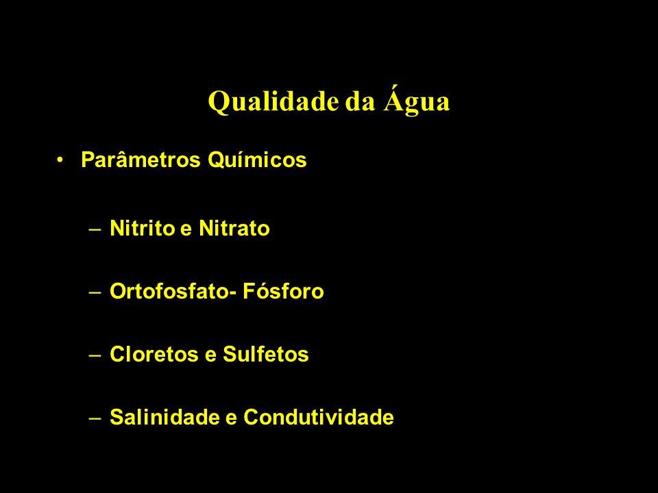 Qualidade da Água Parâmetros Químicos Nitrito e Nitrato