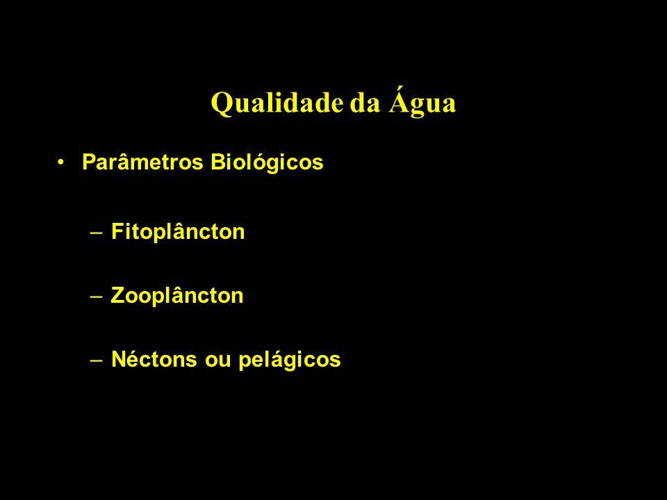 Qualidade da Água Parâmetros Biológicos Fitoplâncton Zooplâncton