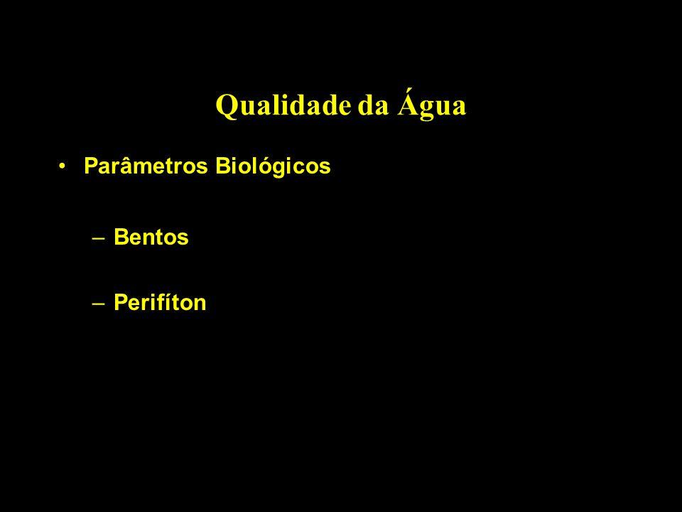 Qualidade da Água Parâmetros Biológicos Bentos Perifíton