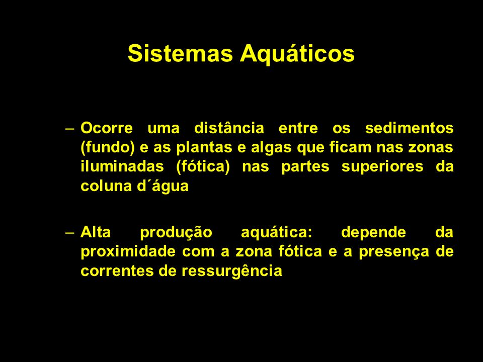 Sistemas Aquáticos