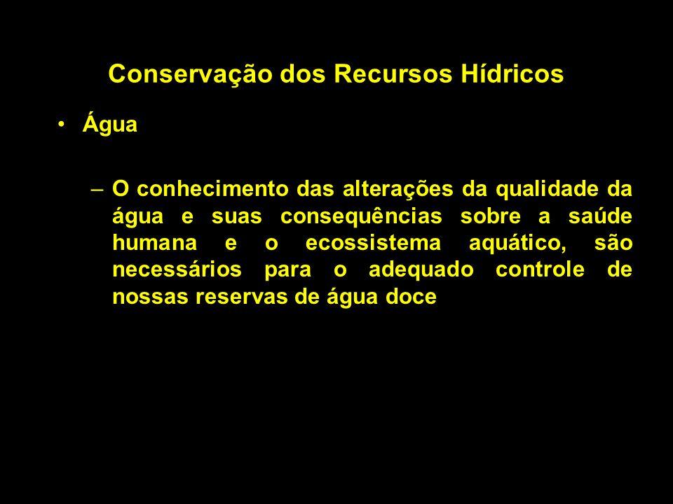 Conservação dos Recursos Hídricos