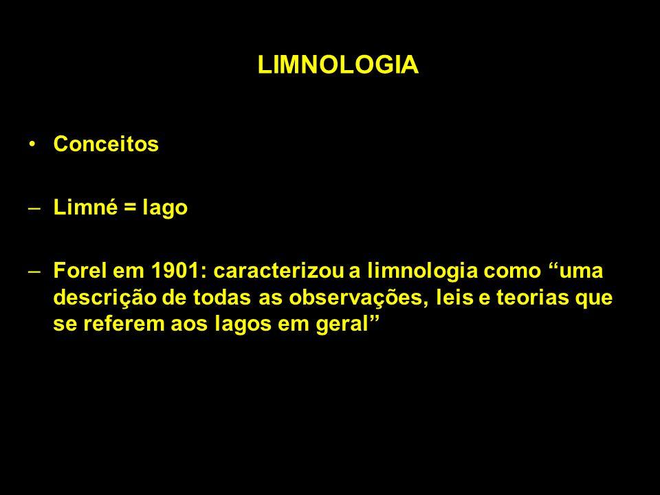LIMNOLOGIA Conceitos Limné = lago
