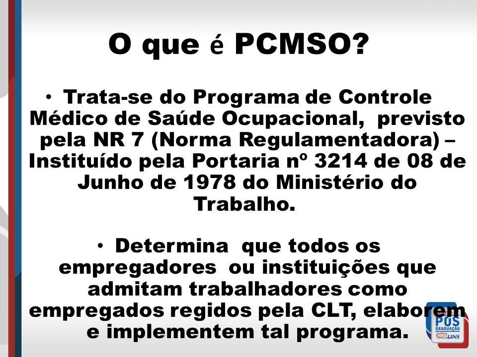 O que é PCMSO