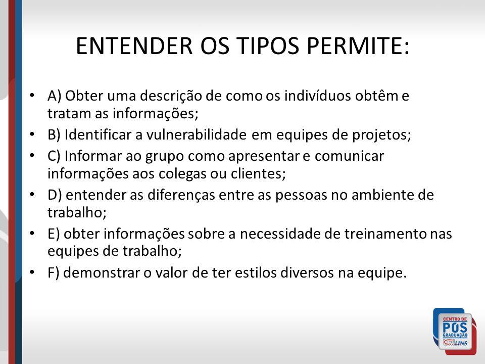ENTENDER OS TIPOS PERMITE: