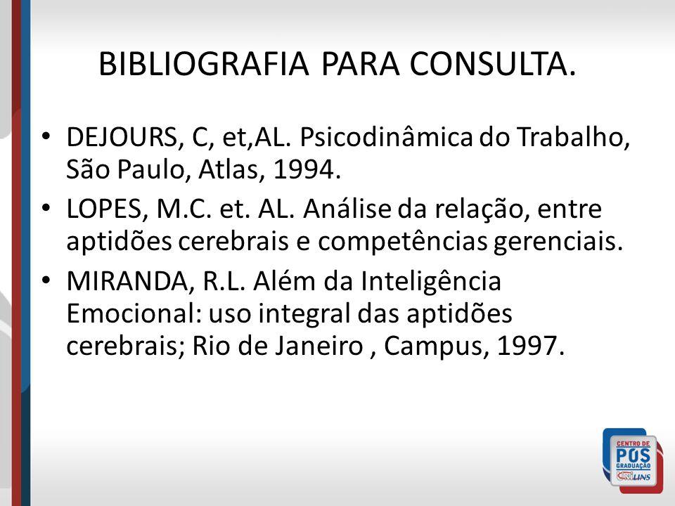 BIBLIOGRAFIA PARA CONSULTA.