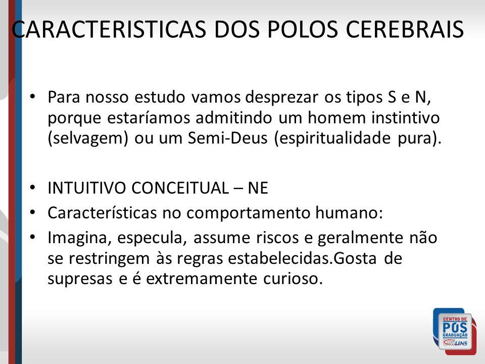CARACTERISTICAS DOS POLOS CEREBRAIS