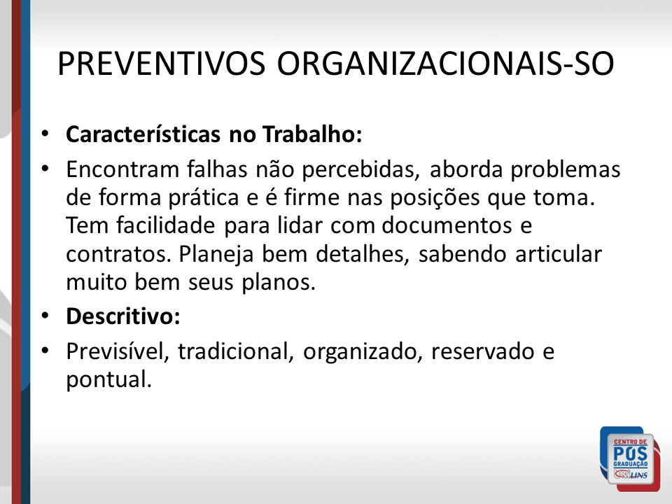 PREVENTIVOS ORGANIZACIONAIS-SO