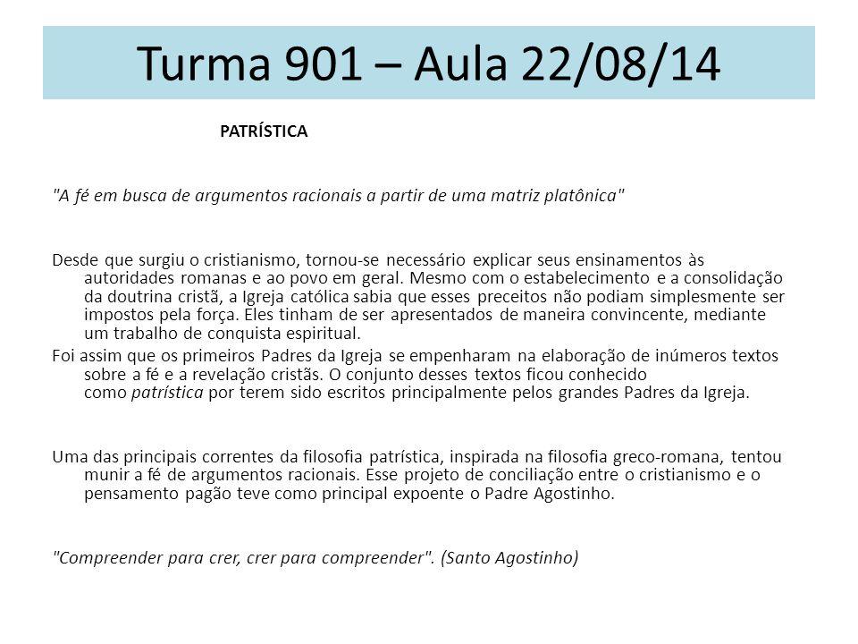 Turma 901 – Aula 22/08/14 PATRÍSTICA