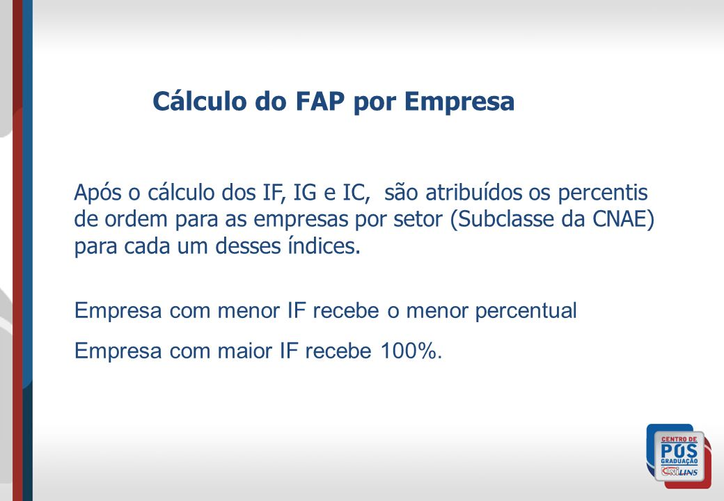 Cálculo do FAP por Empresa