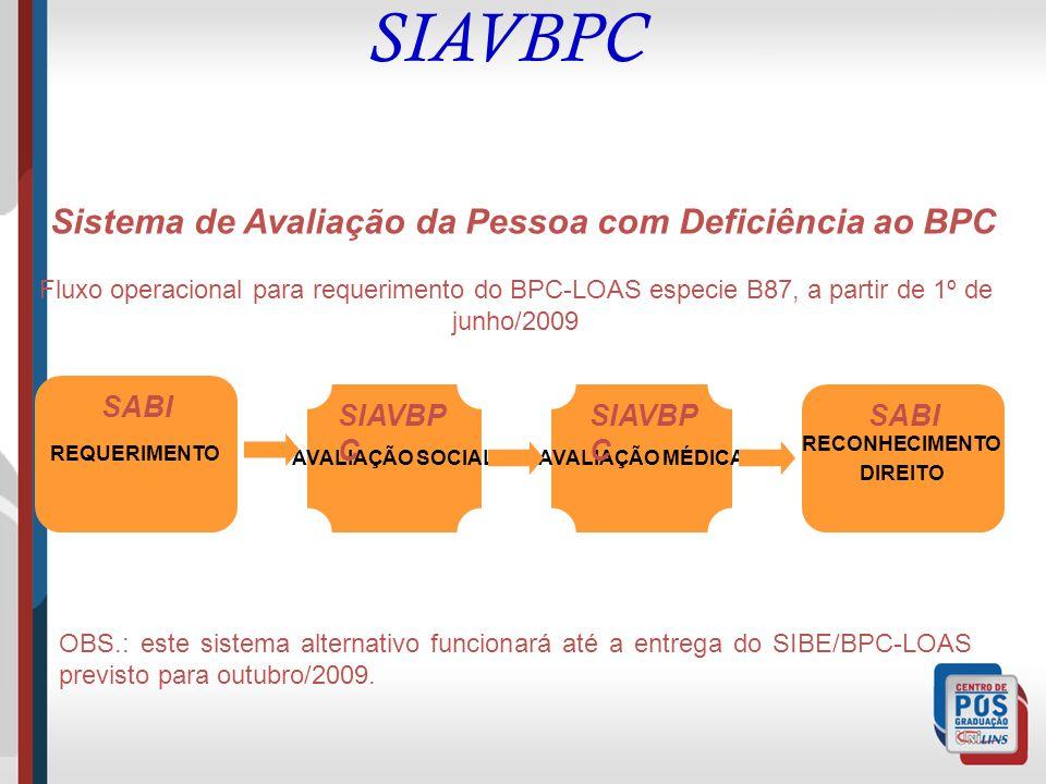 Sistema de Avaliação da Pessoa com Deficiência ao BPC