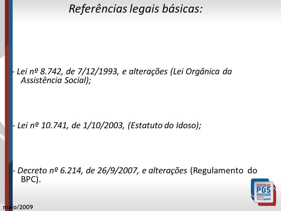 Referências legais básicas: