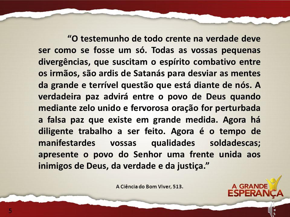 O testemunho de todo crente na verdade deve ser como se fosse um só