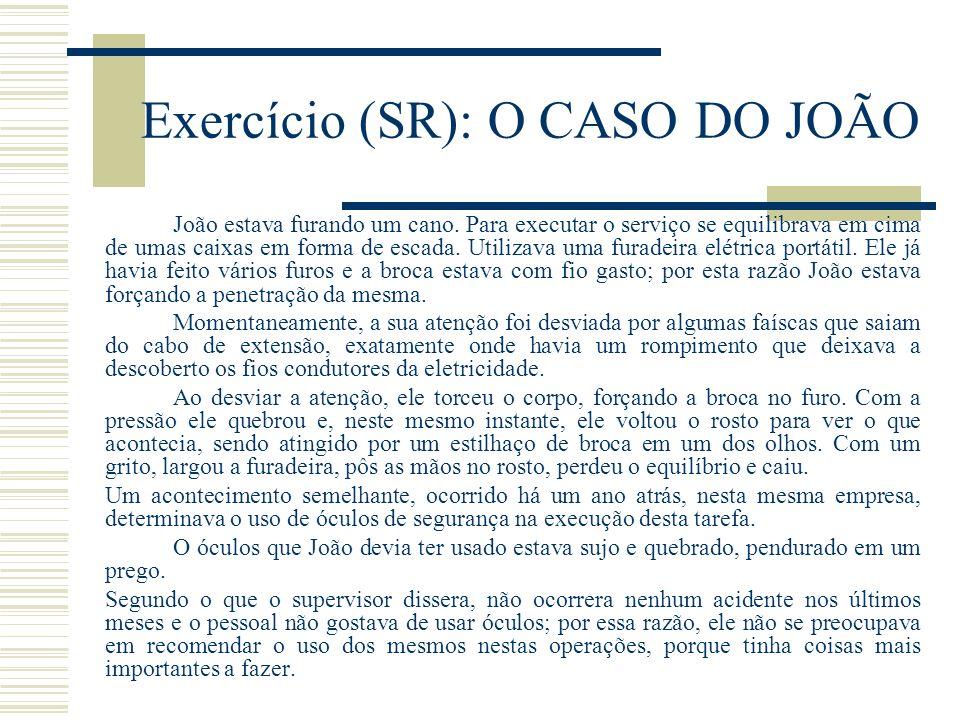 Exercício (SR): O CASO DO JOÃO